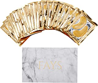 New Collagen Moisturizing 24K GOLD EYE MASK Gel Pads 20 pairs Under Eye Mask Treatment Marble, Hyaluronic Anti-Aging/Wrinkle, For Dark Circles & Puffy Bags, Cool Hydrating Facial Skin Care Make-Up