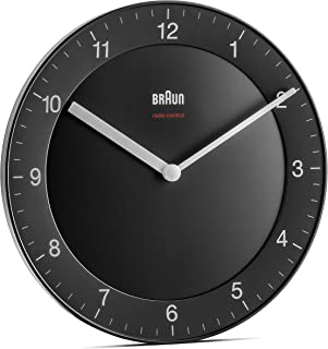 Braun Classic Radio Controlled Wall Clock for Central European Time Zone (DCF/GMT+1) with Quiet Movement, Easy to Read, 20...