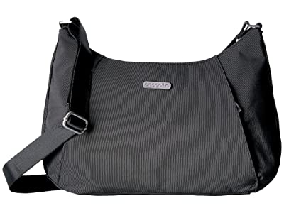 Baggallini Legacy Slim Crossbody Hobo (Charcoal) Hobo Handbags