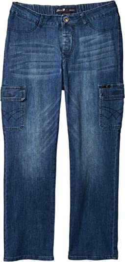 Seated Classic Straight Jeans w/ Magnetic Closure and Thigh Pockets in Peyre Medium