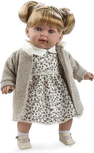 Arias 65198. Eleganz Puppe Elian mit magnetischer Mechanismus von Lachen, Farbe Braun