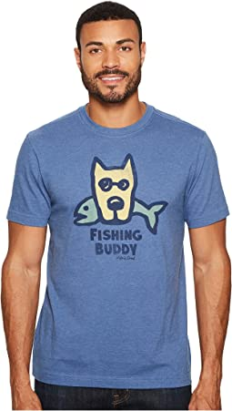 Life is Good - Fishing Buddy Crusher Tee