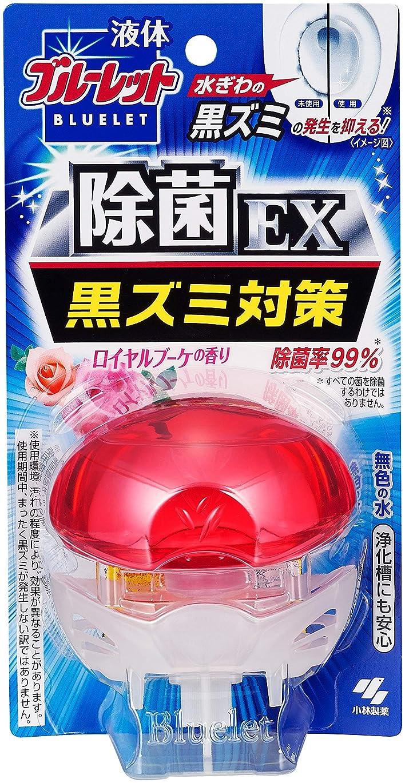 男性黒板首液体ブルーレットおくだけ除菌EX トイレタンク芳香洗浄剤 本体 ロイヤルブーケの香り 70ml