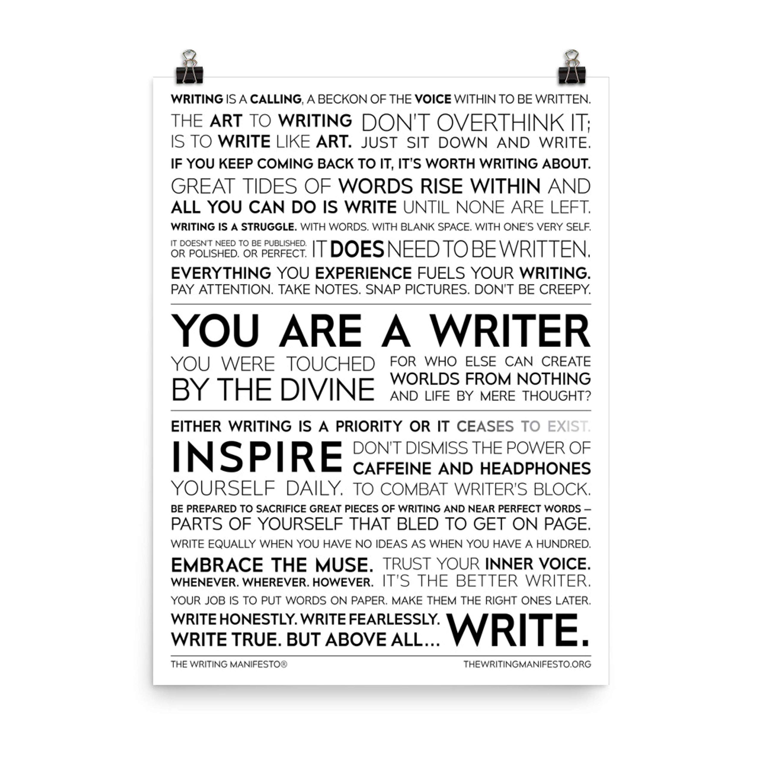 Im A Writer Therefore I Am Not Sane-Edgar Allan Poe Poster Wall Print|Inspirational Motivational Classroom Home Office Dorm|18 X 12 In|SJC137