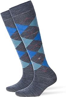 Burlington Womens Marylebone Knee High Socks - Mid Grey/Blue