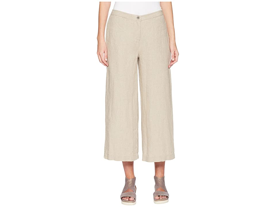Eileen Fisher Wide Cropped Pants (Undyed Natural) Women
