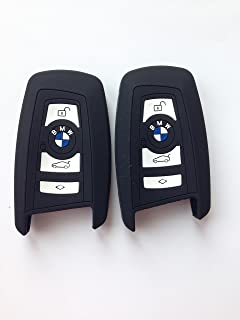 2pcs Black Silicone Protective sleeve Key Protector Keyless Fob Remote Control Protecting Case Smart Key Holder Fob Skin K...