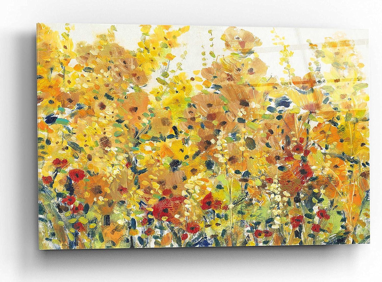 Epic Art 'Golden Summer Garden I' Acrylic by cheap Glass Ranking TOP3 Tim O'Toole