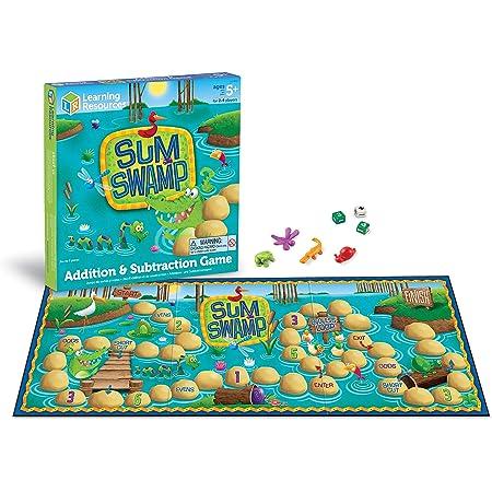 ラーニング リソーシズ(Learning Resources) 計算ゲーム 計算スゴロク 足し算と引き算 Sum Swamp LER5052