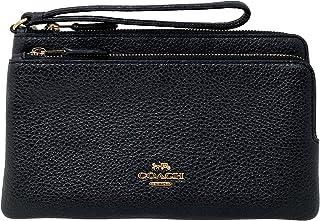 Coach Double Zip Wallet Wristlet Style No. C5610 Black