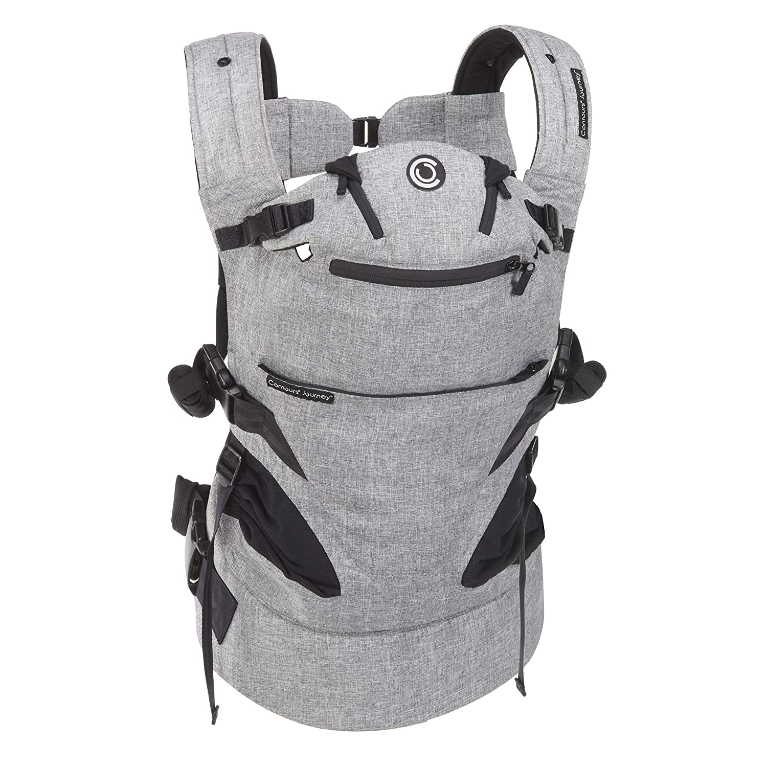 Contours - Journey 5-Position Arlington Mall Baby Carrier 8-45 lb High material Graphit