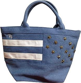 [ロンハーマン] Ron Herman USAスタッズトートバッグ 4色[ホワイト/レッド/ブルー] 星条旗 コーデュロイ コットン ミニ トート [並行輸入品]
