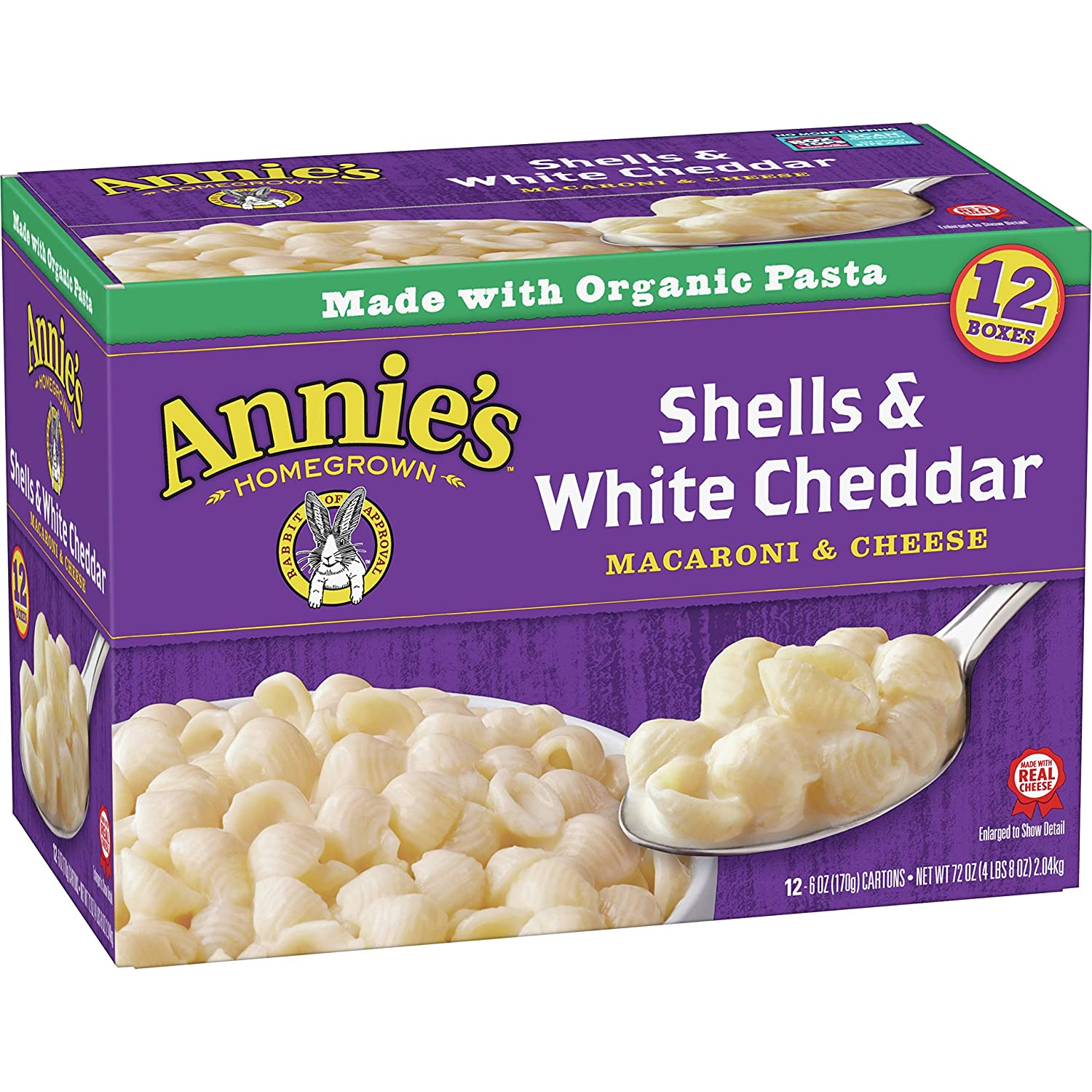 Annie's Homegrown Special price Shells and White pk. oz. 12 Cheddar Max 67% OFF 6