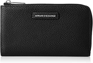 A|X Armani Exchange womens Round Zip Wallet