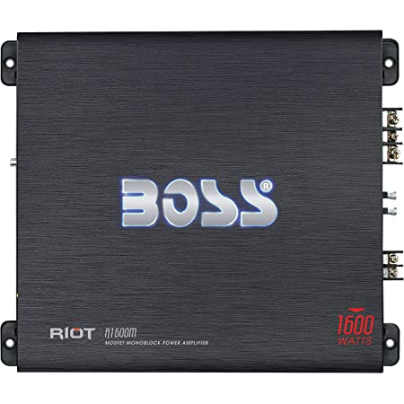 Amazon.com: BOSS Audio Systems AR1500M Car Amplifier - 1500 Watts Max  Power, 2 4 Ohm Stable, Class AB, Monoblock, Mosfet Power Supply, Remote  Subwoofer Control: Car Electronics