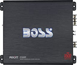 BOSS Audio Systems R1600M Monoblock Car Amplifier - 1600 Watts, 2/4 Ohm Stable, Class A/B, Mosfet Power Supply, Great for Car Subwoofers