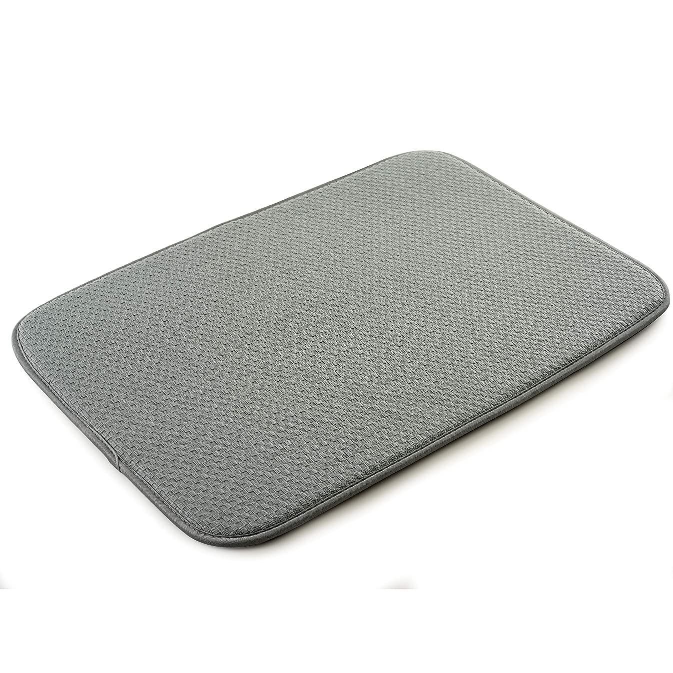 Norpro 18 by 12-Inch Microfiber Dish Drying Mat, Gray
