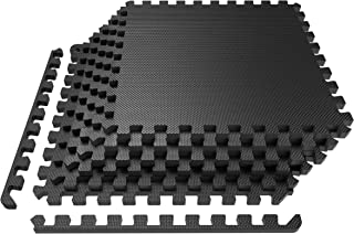 LEVOIT Puzzle Exercise Mat, Premium EVA Foam Interlocking Tiles, Protective Flooring for Gym Equipment and Cushions for Workouts, 24 SQ FT (6 Tiles, 12 Borders)