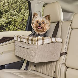 PetSafe Happy Ride Quilted Booster Seat - Dog Booster Seat for Cars, Trucks and SUVs - Easy to Adjust Strap - Durable Padd...