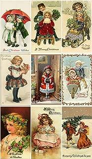 Victorian Vintage Children # 103 Christmas Card Collage Sheet 8.5 x 11