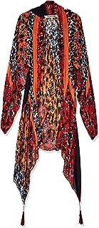 Michael Stars Womens Floral Tasseled Kimono