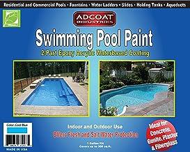 AdCoat Swimming Pool Paint, 2-Part Epoxy Acrylic Waterbased Coating, 1 Gallon Kit –..
