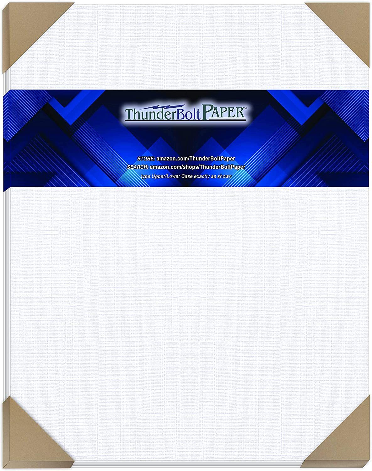 50 White Linen 80# Cover Paper Sheets 11X14 14