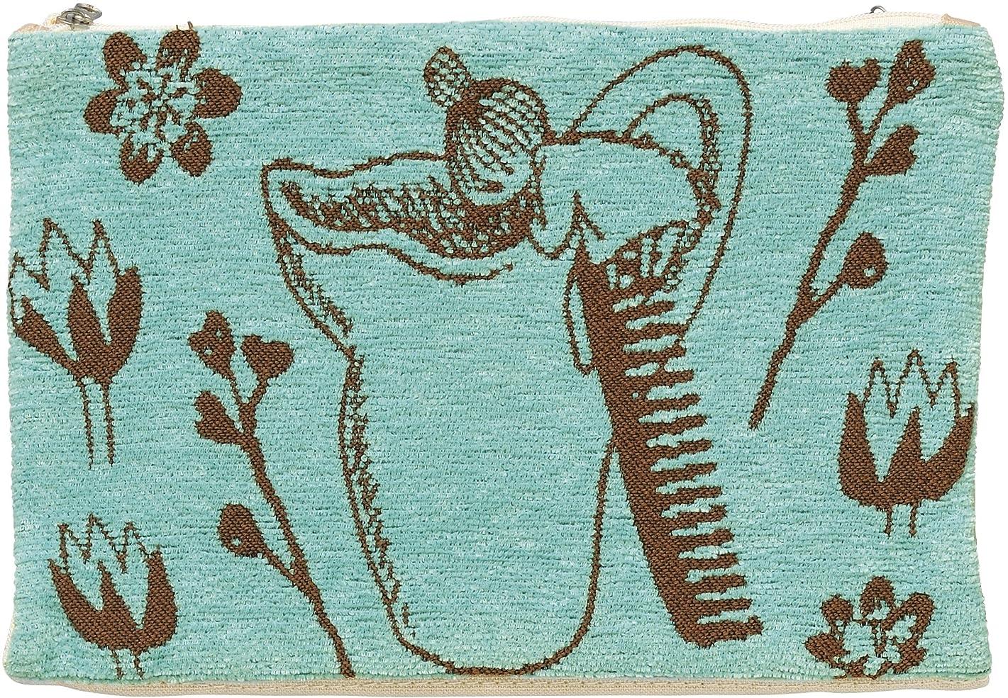 より平らな転倒あえぎ丸眞 マルチポーチ ブルー 個装サイズ:18×26.5×2cm