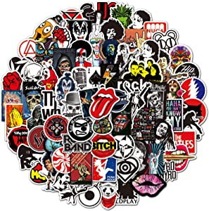 Rock Band Stickers 200 Pack Rock and Roll Music Stickers for Teens Adults Waterproof Vinyl Stickers for Personalize Laptop Electronic Organ Water Bottles