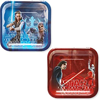 American Greetings Star Wars: The Last Jedi Party Supplies, Disposable Paper Dessert Plates, 8-Count