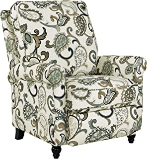 Domesis Chester - Fabric Hill -ush Back Recliner Chair, Blue Paisley