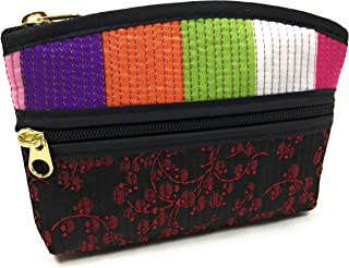 Bag FabCloud mini Rainbow floral black bright by WiseGloves, pocket cosmetic make up pouch bag handbag accessory