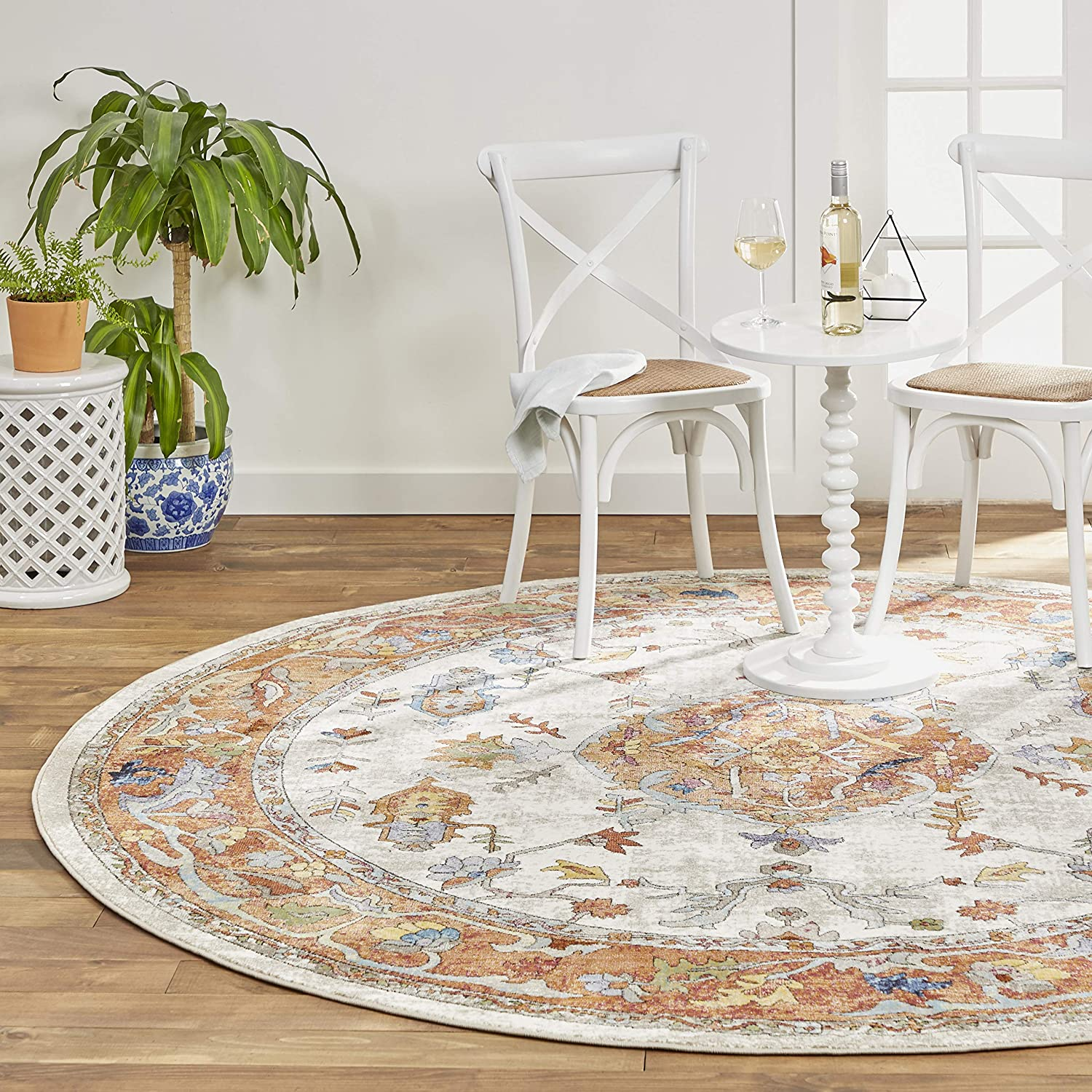 Home Dynamix Parlin Aster Rug Max 53% OFF Round Rust 7'10