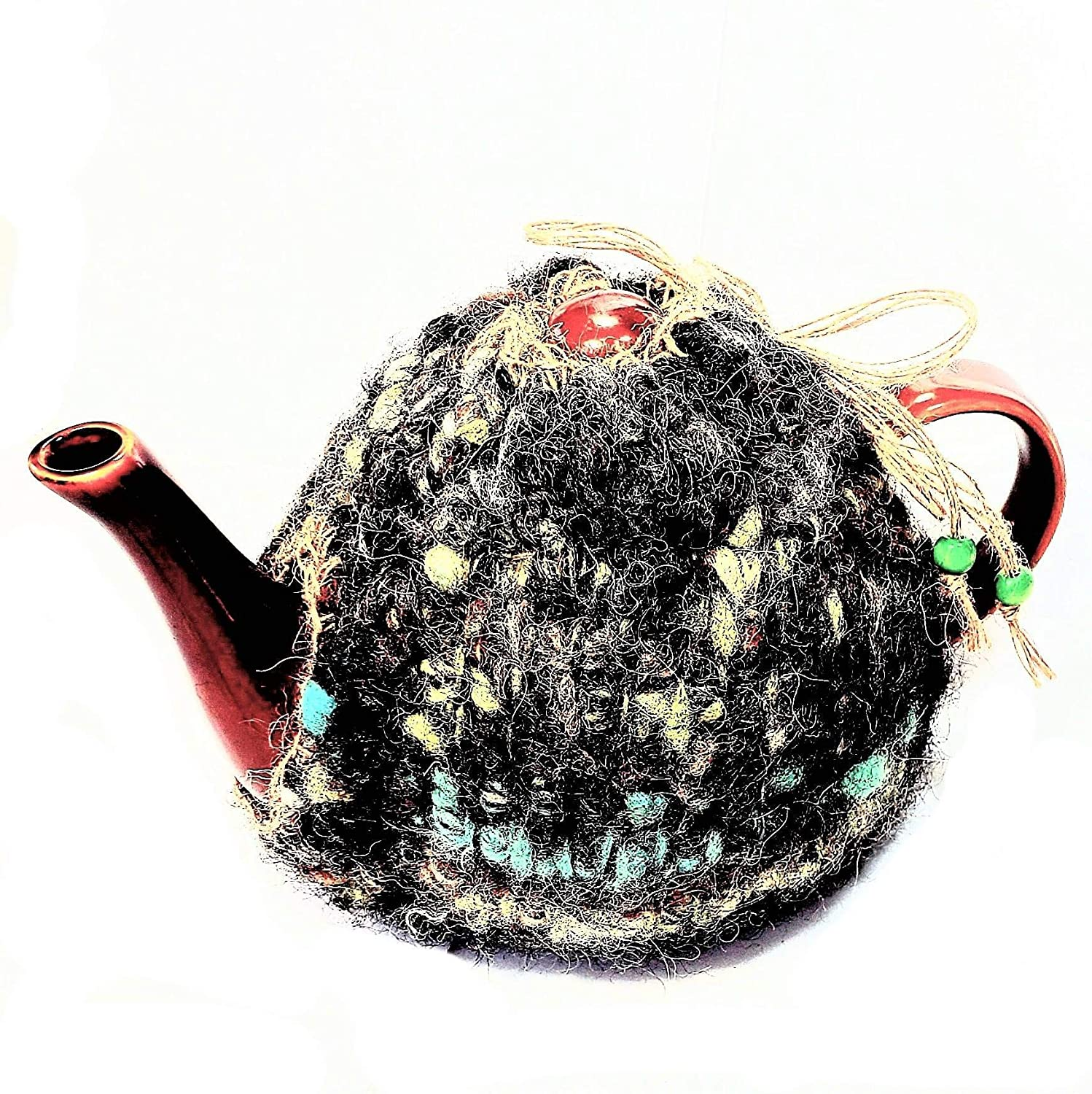 Teapot Max 47% Max 55% OFF OFF Cozy Insulating Wool Cover- Knit Farmhou Natural Country