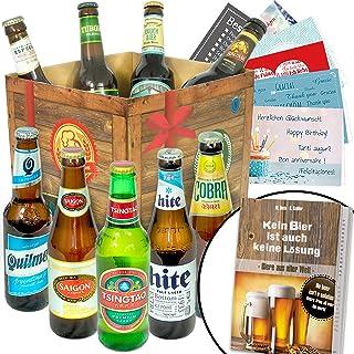 BIERE DER Welt Geschenk Box Männer  inkl Bierbuch  inkl Geschenkkarten  Bier Geschenke  Geburtstags Geschenke