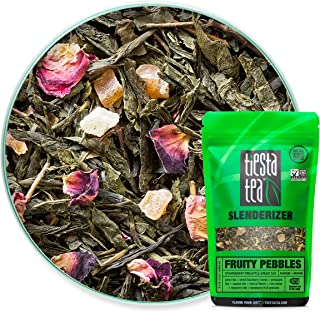 Tiesta Tea, Fruity Pebbles, Strawberry Pineapple Green Tea, 1.6 oz, 30 Servings , 1.6 Ounce (Pack of 1)