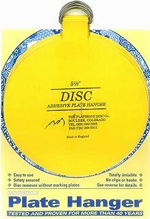 Flatirons Disc Adhesive Extra Large Plate Hanger Set (4-5.5 Inch Hangers)