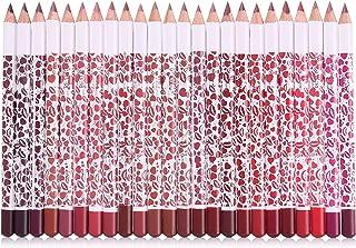 مجموعة اقلام احمر شفاه وتحديد شفاه بلون ثابت غير لامع مكونة من 24 لون