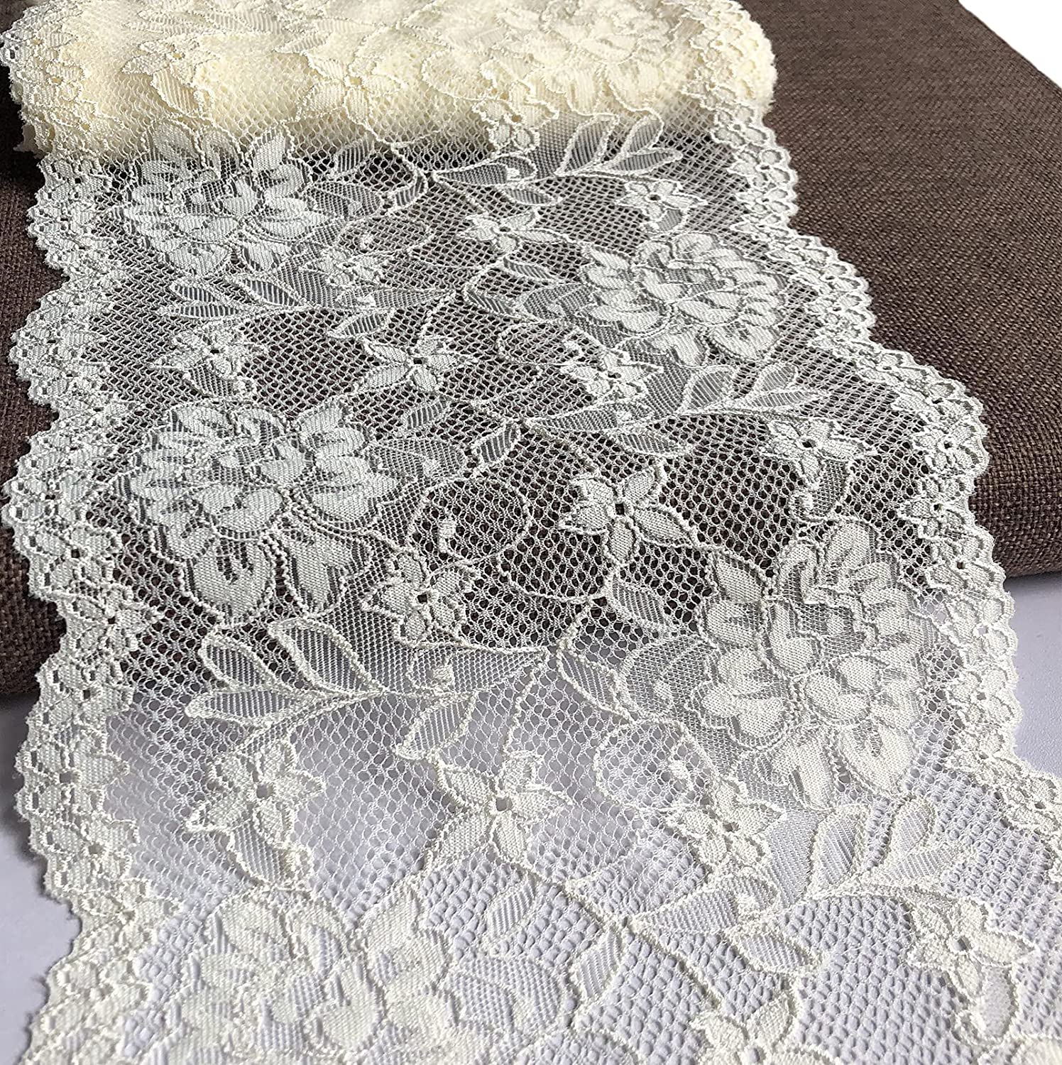 Olive Max 55% OFF Lace 7 inches Wide Stretchy Pattern Floral with for lace B Bombing new work