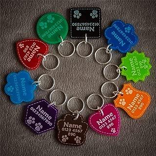 National Engraver Etiquetas de Identificación de Mascotas Perros y Gatos Personalizadas Grabado Plástico Acrílico