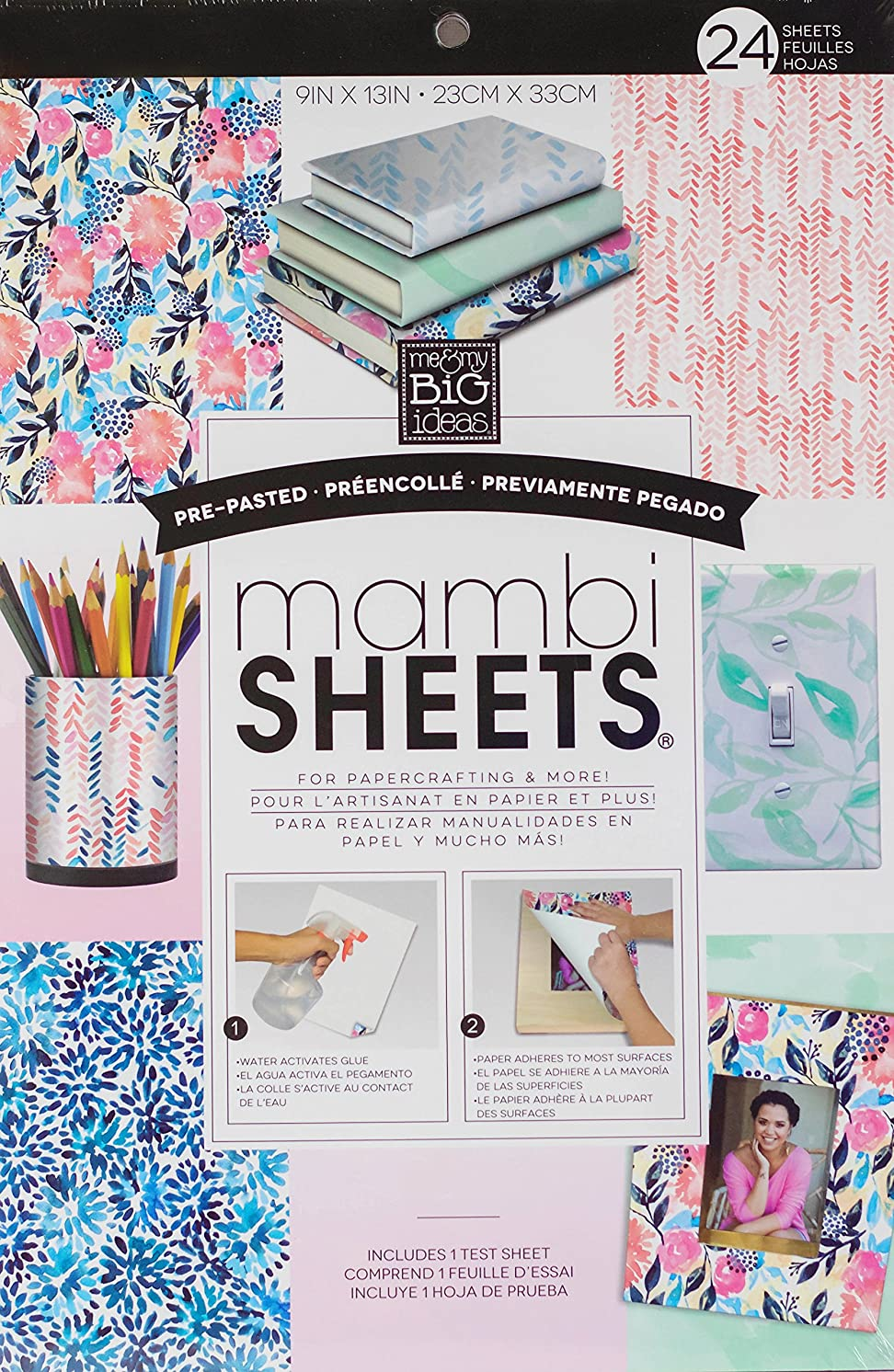 Pre-Pasted mambiSHEETS Watercolor Delight