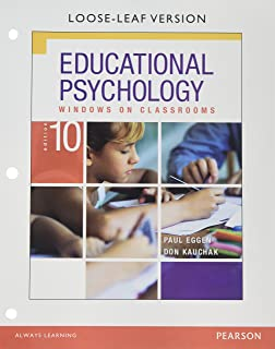 Educational Psychology: Windows on Classrooms with Enhanced Pearson eText, Loose-Leaf Version with Video Analysis Tool -- Access Card Package (10th Edition)