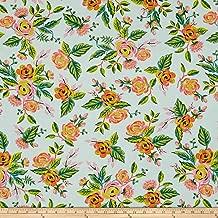 Cotton + Steel Rifle Paper Co. Menagerie Rayon Jardin De Paris Fabric by The Yard, Mint