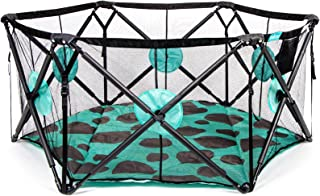 Milliard Playpen Portable Playard with Cushioning for Safety, for Travel, Indoor and Outdoor Play Yard Pen (Large)