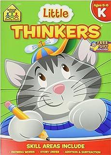School Zone Preschool 32 Pages Little Thinkers Kindergarten Workbook