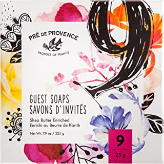Pre de Provence Soap Assorted Boutique Luxury Gift Box, (Set of 9) French Bouquet