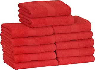 MAGTEX Cotton Salon Towels (24-Pack, Red,16x27 inches) - Soft Absorbent Quick Dry Gym-Salon-Spa Hand Towel (Red)