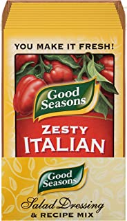Good SeasonsZesty Italian Salad Dressing & Recipe Kit, 0.6 Oz, Pack of 24