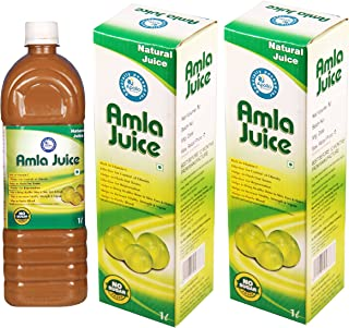 Amla Juice - Indian Gooseberry Juice - Amalaki Juice - ★ Rich in Vitamin C - ★ 100% Pure - ★ No Artificial Color and Preservative Free - Apollo Pharmacy (Pack of 2 X 1 Liter) (67 Oz)