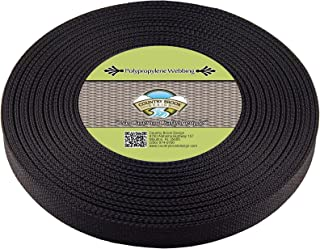 Country Brook Design - 1 Inch Black Heavy Polypropylene (Polypro) Webbing (25 Yards)